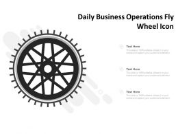 Daily Business Operations Fly Wheel Icon