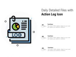 Daily Detailed Files With Action Log Icon