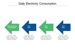 Daily Electricity Consumption Ppt Powerpoint Presentation Inspiration Cpb