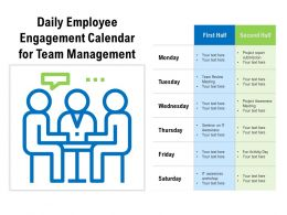 Daily Employee Engagement Calendar For Team Management