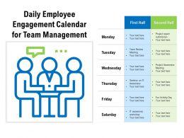 Daily Employee Engagement Calendar For Team Management