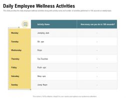 Daily Employee Wellness Activities Friday Hops Ppt Powerpoint Presentation Infographic Template