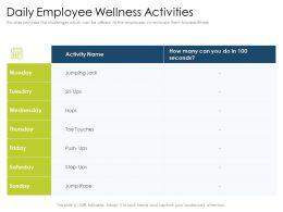 Daily Employee Wellness Activities Hops Powerpoint Presentation Skills