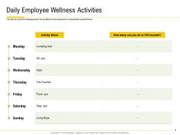 Daily Employee Wellness Activities Jumping Jack Ppt Powerpoint Microsoft