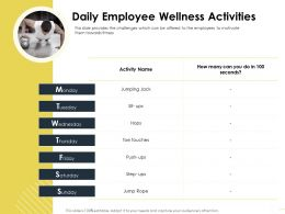 Daily Employee Wellness Activities M1638 Ppt Powerpoint Presentation Pictures Show