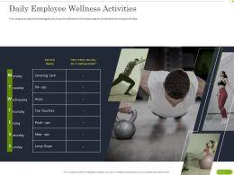 Daily Employee Wellness Activities Ppt Powerpoint Presentation Professional Ideas