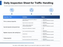 Daily Inspection Sheet For Traffic Handling Hours Ppt Powerpoint Presentation Portrait