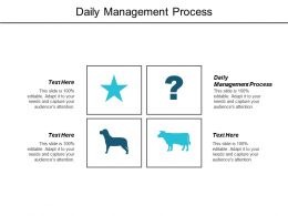 Daily Management Process Ppt Powerpoint Presentation Infographics Samples Cpb