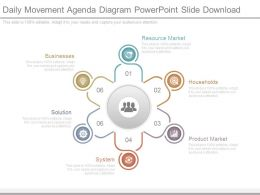 Daily Movement Agenda Diagram Powerpoint Slide Download