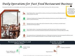 Daily Operations For Fast Food Restaurant Business Ppt Powerpoint Graphics