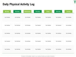 Daily Physical Activity Log M1603 Ppt Powerpoint Presentation Show Inspiration
