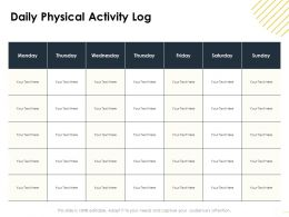 Daily Physical Activity Log M1639 Ppt Powerpoint Presentation Icon Show