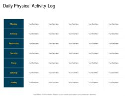 Daily Physical Activity Log M3105 Ppt Powerpoint Presentation Icon Skills