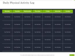 Daily Physical Activity Log Ppt Powerpoint Presentation Layouts Outline