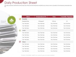 Daily Production Sheet Ppt Powerpoint Presentation Icon Tips
