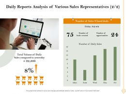 Daily Reports Analysis Of Various Sales Representatives Friday Ppt Powerpoint Presentation File Diagrams