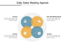 Daily Sales Meeting Agenda Ppt Powerpoint Presentation Gallery Master Slide Cpb