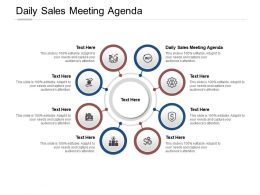 Daily Sales Meeting Agenda Ppt Powerpoint Presentation Icon Clipart Images Cpb