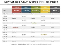 Daily Schedule Activity Example Ppt Presentation
