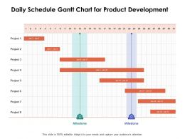 Daily Schedule Gantt Chart For Product Development Ppt Powerpoint Presentation Ideas