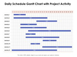 Daily Schedule Gantt Chart With Project Activity Ppt Powerpoint Presentation Designs
