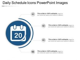 Daily Schedule Icons Powerpoint Images