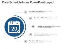 Daily Schedule Icons Powerpoint Layout
