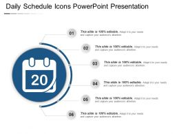 Daily Schedule Icons Powerpoint Presentation