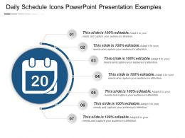 Daily Schedule Icons Powerpoint Presentation Examples