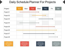 Daily Schedule Planner For Projects Ppt Design