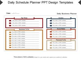 Daily Schedule Planner Ppt Design Templates