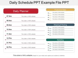 Daily Schedule Ppt Example File Ppt