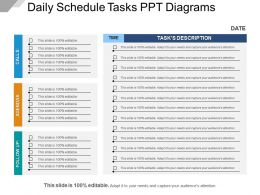 Daily Schedule Tasks Ppt Diagrams