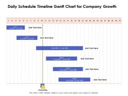 Daily Schedule Timeline Gantt Chart For Company Growth Ppt Powerpoint Show