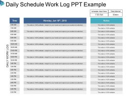Daily Schedule Work Log Ppt Example