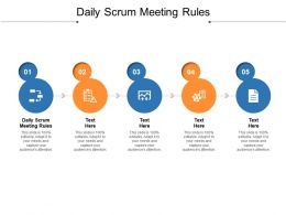 Daily Scrum Meeting Rules Ppt Powerpoint Presentation Styles Sample Cpb