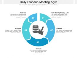 Daily Standup Meeting Agile Ppt Powerpoint Presentation Summary Styles Cpb