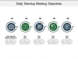Daily Standup Meeting Objectives Ppt Powerpoint Presentation Inspiration Demonstration Cpb
