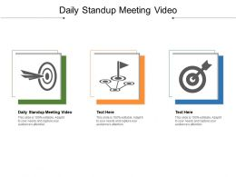 Daily Standup Meeting Video Ppt Powerpoint Presentation Model Demonstration Cpb