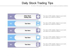 Daily Stock Trading Tips Ppt Powerpoint Presentation Summary Shapes Cpb