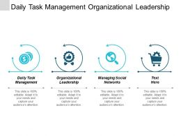Daily Task Management Organizational Leadership Managing Social Networks Cpb