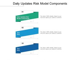 Daily Updates Risk Model Components Ppt Powerpoint Presentation Pictures Icons Cpb