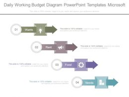 Daily Working Budget Diagram Powerpoint Templates Microsoft