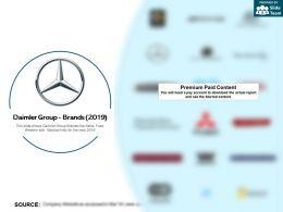 Daimler Group Brands 2019