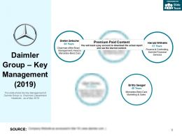 Daimler Group Key Management 2019