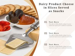 Dairy Product Cheese In Slices Served As Snacks