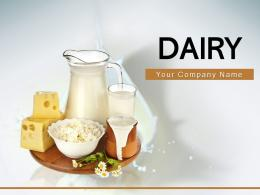 Dairy Product Shelves Served Glass Pouring Factory Market