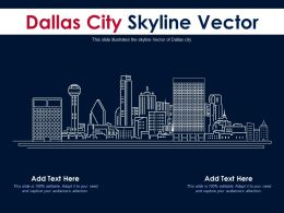 Dallas City Skyline Vector Powerpoint Presentation PPT Template