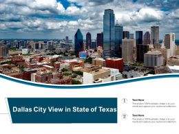 Dallas City View In State Of Texas