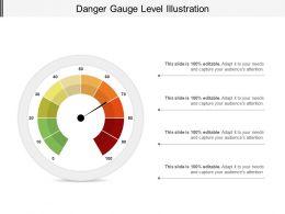 Danger Gauge Level Illustration